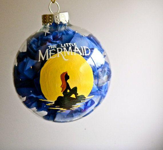 The Little Mermaid Inspired Christmas Ornament Disney Ariel on Etsy, $27.00