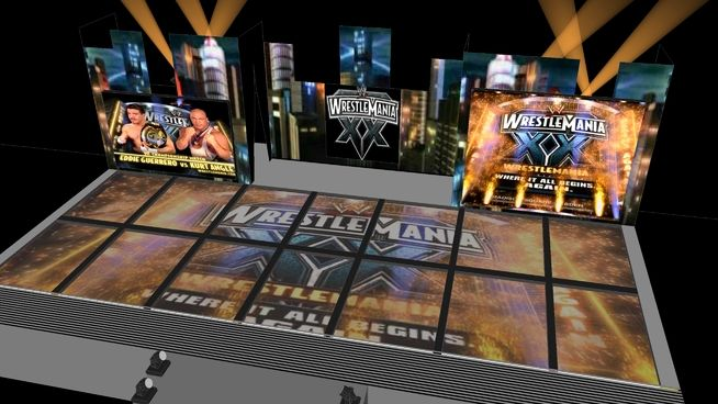 Large preview of 3D Model of WWE WrestleMania XX!!!