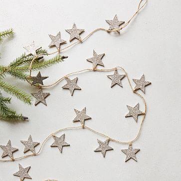 Glitter Star Garland #westelm