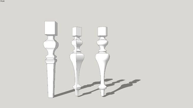 furniture legs, table legs, ножки для стола, мебельные ножки, опоры | 3D Warehouse
