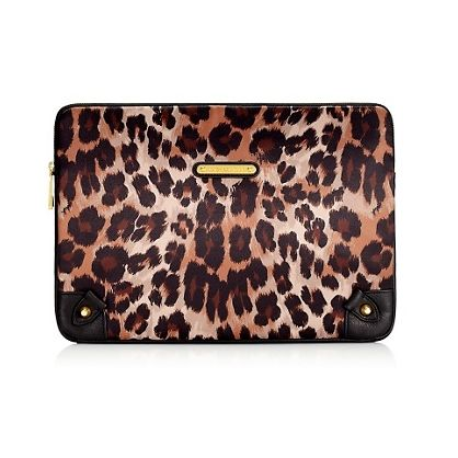 Juicy Couture Leopard print laptop case