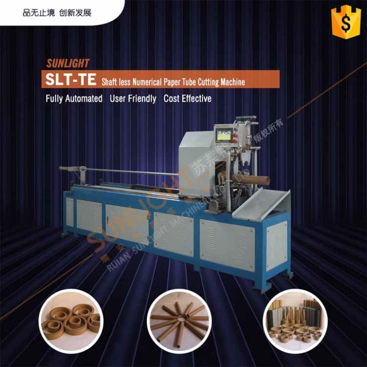 Automated 3 Inch Kraft Numerical Control Cardboard Paper Tube Pipe Core Cutting Cutter Machine
