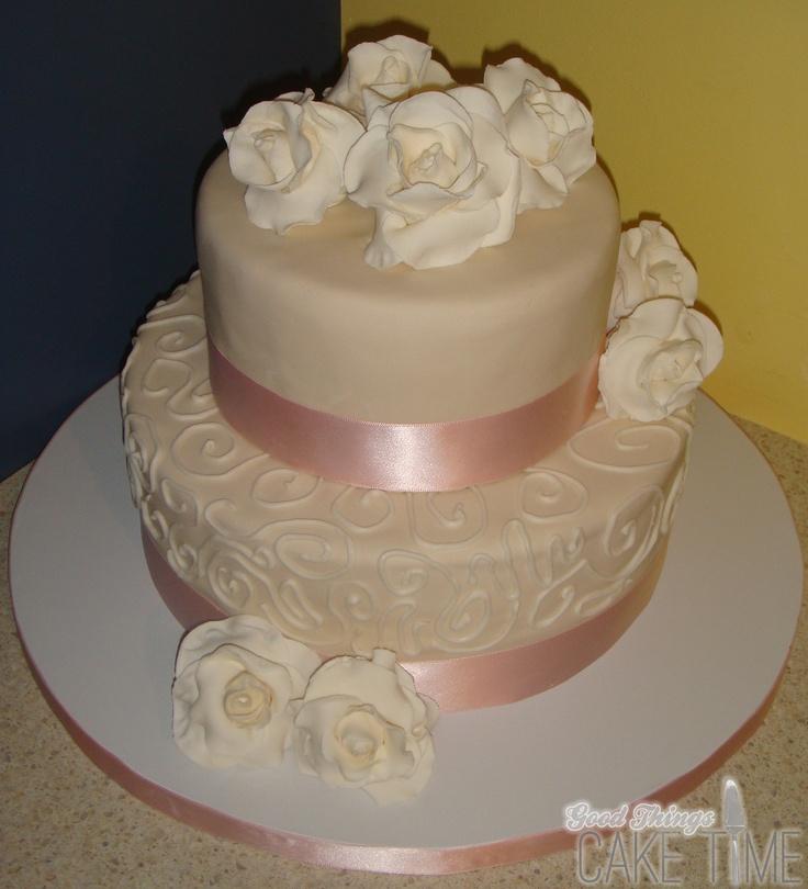 Chocolate Cake with sugar roses.