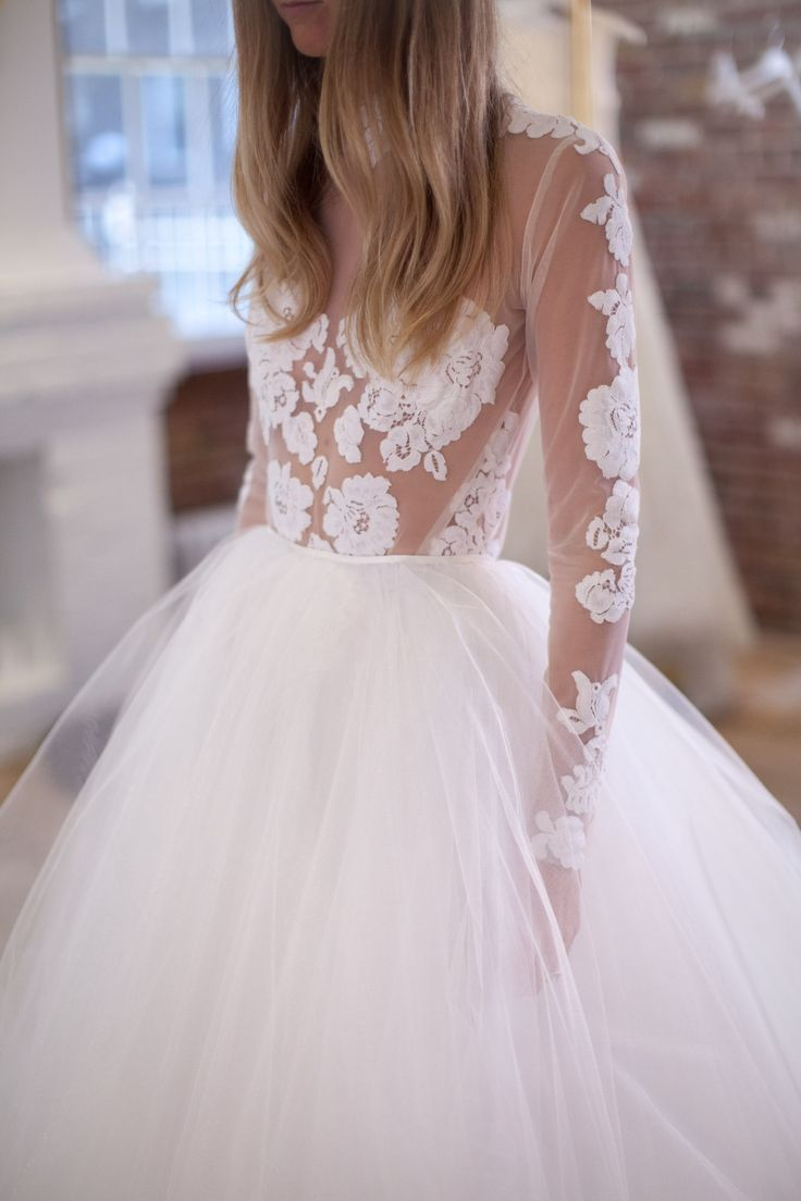 Spina Bride / New York City Bridal Boutique / Lace and Tulle Gown / Wedding Style Inspiration / The LANE