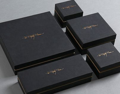 Black boxes packaging design
