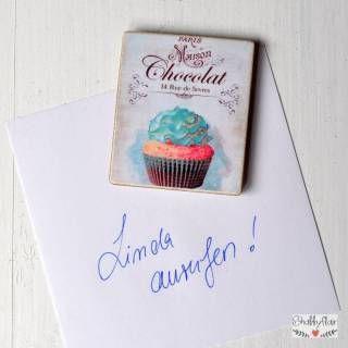 shabbyflair Magnet im Vintage Cupcake Design