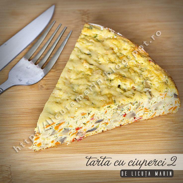 O combinatie apetisanta de legume proaspete, oua si verdeata! O delicioasa tarta aperitiv pe care o putem savura la micul deju...