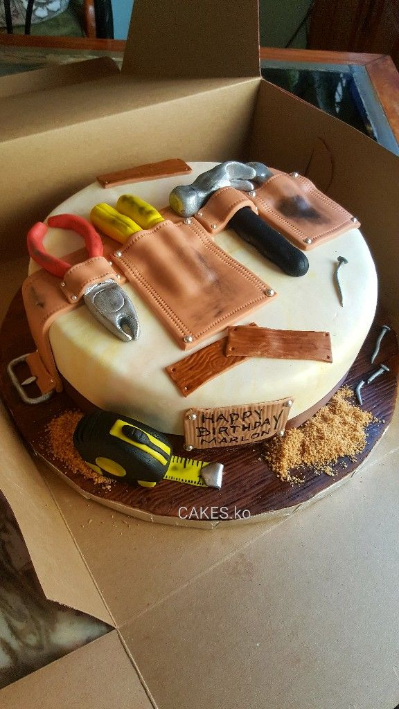 Did this cake for a birthday guy who is quite a handyman with tools. Click link to my business page for more of my work.