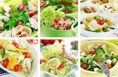 Салаты диетические - Рецепты диетических салатов - Как правильно