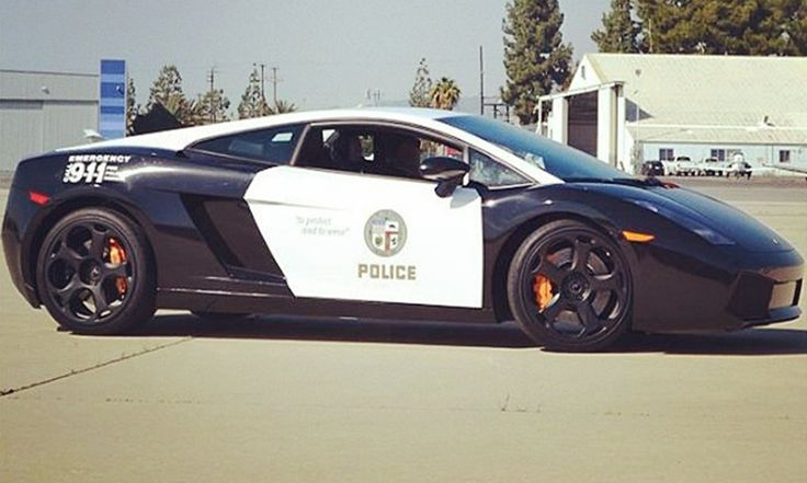 An41 Lamborghini Car Exotic White Art: Los Angeles, California Police Dept. Gets Exotic Lambo