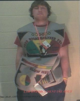 Moron In Breathalyzer Costume Busted For Driving Drunk