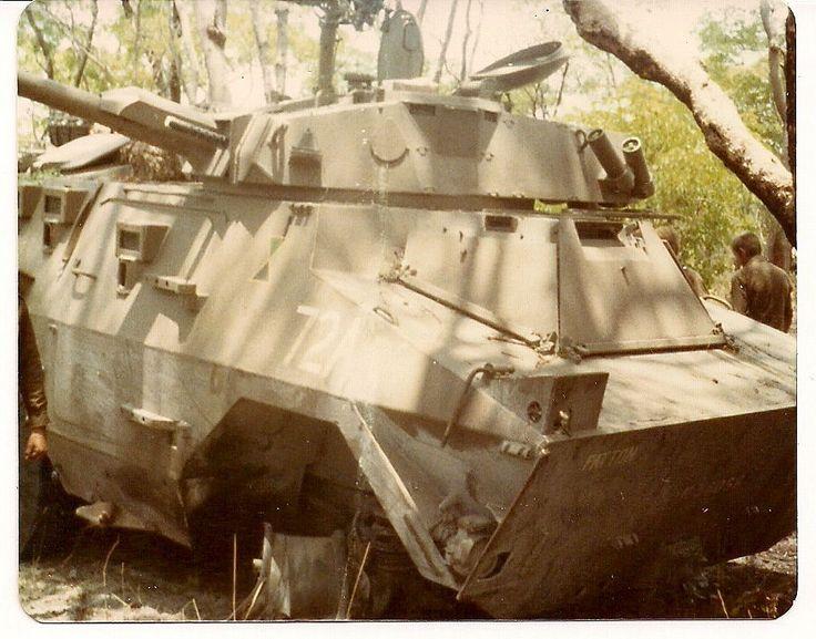 Unlucky SADF Ratel-90 during South African Border War.