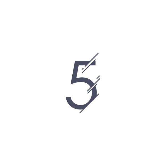 Number 5 Vector Template Design Illustration 5 Clipart Number Icons Template Icons Png And Vector With Transparent Background For Free Download Illustration Design Template Design Design