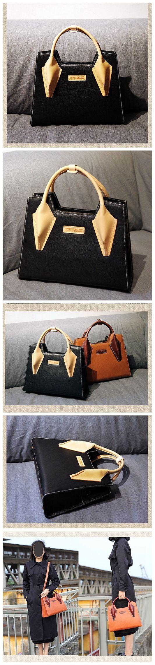 LISABAG--Handmade modern fashion leather tote bag messenger shoulder bag handbag for women lady AK02