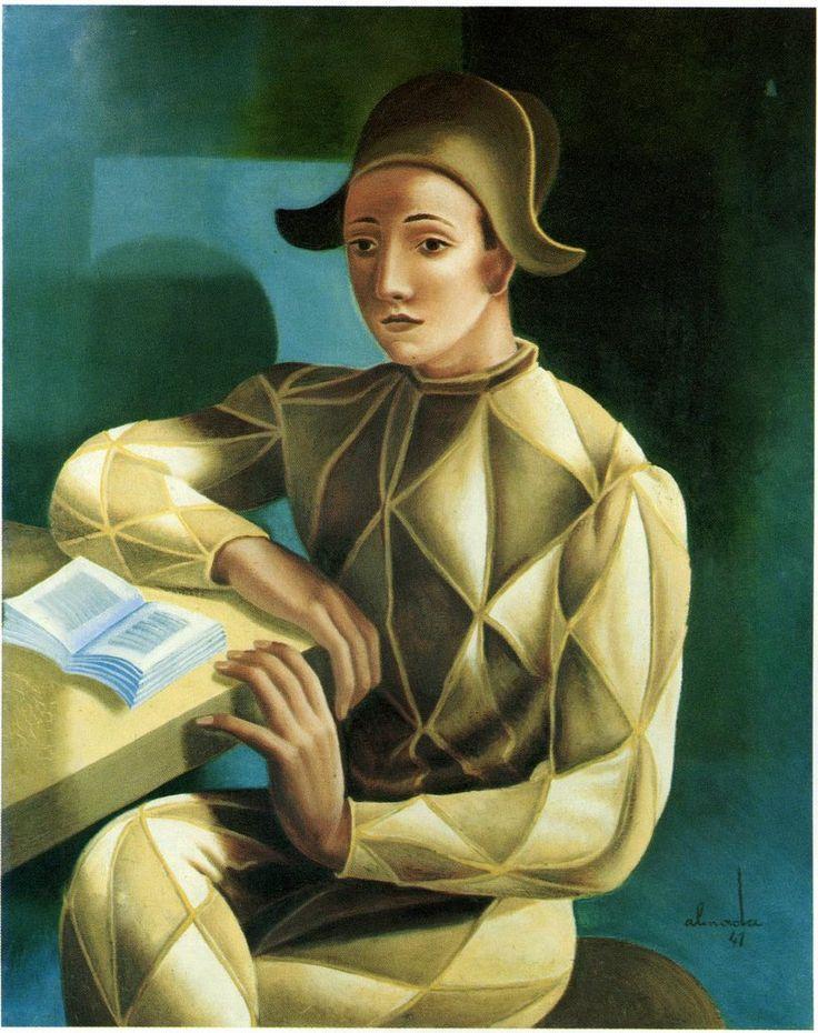 """""""Retrato Clássico de Arlequim"""",1941. Almada Negreiros"""