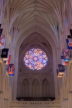 Washington National Cathedral.  It's more than a church; it's a national work of art.  Even the most ardent atheist will be able to appreciate the beauty and artistic work displayed here, not to mention the history.  Go!