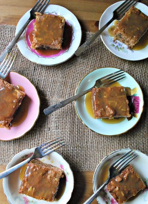 Old-fashioned apple spice cake with maple sauce. | Baking - Desserts ...