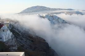 Fog in Oia, Santorini island, Greece - selected by oiamansion.com