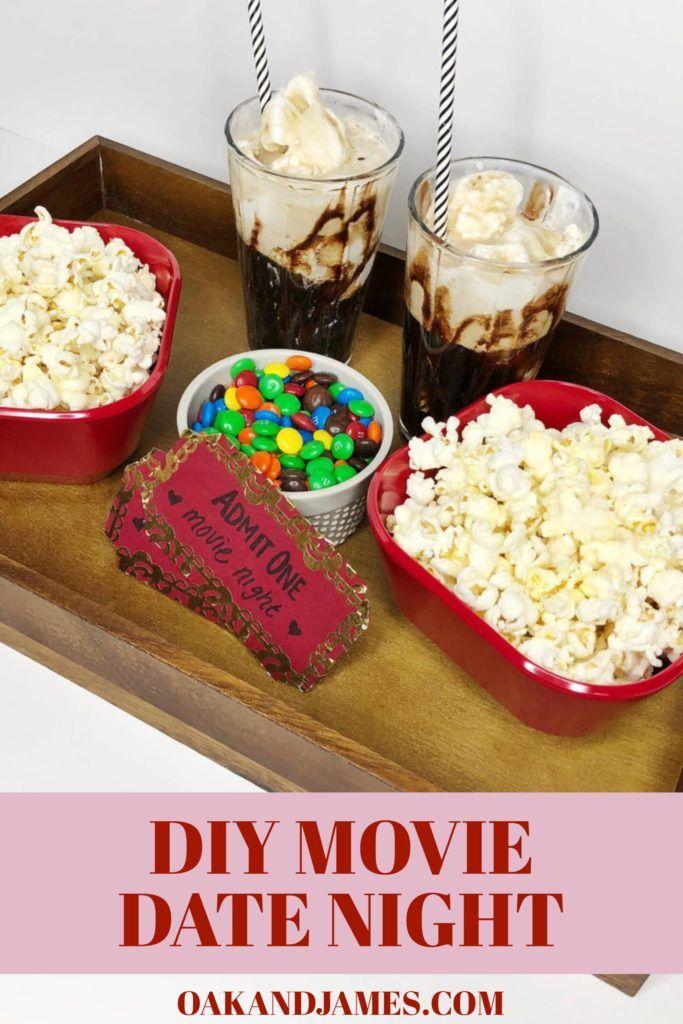 Valentine S Date Night Diy Movie Night Oak And James Diy Movie Night Couples Movie Night Date Night Movies