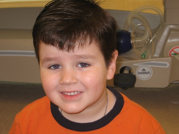 Brendan Dugdell, 8 yrs old, was diagnosed with a craniopharyngioma in September 2008. He received proton radiation at the University of Florida Proton Therapy Institute in Jacksonville Florida. (via http://www.protonfunride.com/Testimonials_1.html# )