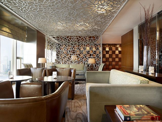 The westin tianjin westin executive club lounge by westin for Hotel ceiling design