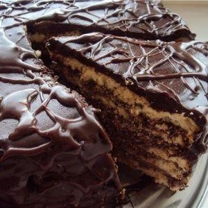 """Торт на кефире """"Черный принц""""."""