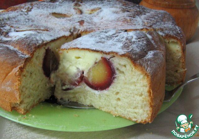 Сливовый пирог с кремовой заливкой ингредиенты