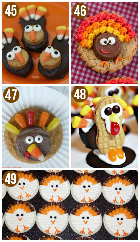 Cute Thanksgiving Turkey Cookies- the kids would love this!