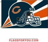CHICAGO BEARS HELMET DESIGN 3X5 FLAG - 1 left
