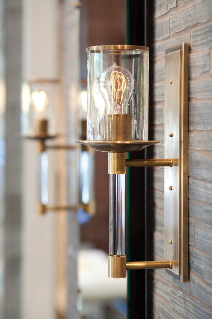 5 Antique Brass Wall Lights to increase your home interiors-Urban Torch Lamp in Antique Brass by Urban Archaeology