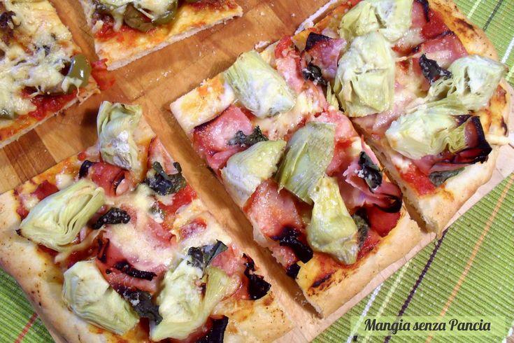 Pizza prosciutto cotto e carciofini
