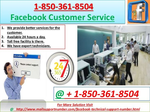 Are you one of them who are seeking for regarding these Facebook issue:Unable to receive E-mails.Unable to send attachments.Unable to recover password.Facebook account compromised.So many troubles; only one solution. Call +1-850-361-8504 to get unlimited Facebook Customer Service and enjoy uninterrupted Facebook experience. For more information please visit our website: http://www.mailsupportnumber.com/facebook-technical-support-number.html