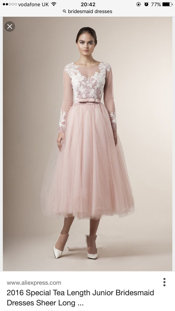 36 best party dress images on pinterest party dresses clothes 2016 special tea length junior bridesmaid dresses sheer long sleeves lace appliques belt bow vintage a line short party bridesmaid dressesweddings ombrellifo Image collections