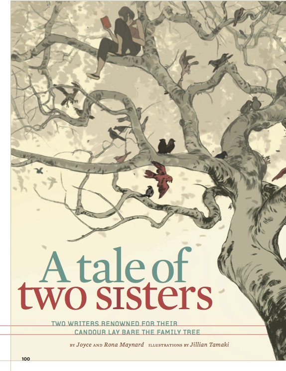 """Silver winner in #Illustrations. """"A Tale of Two Sisters"""" by Jillian Tamaki published in More, 2007."""
