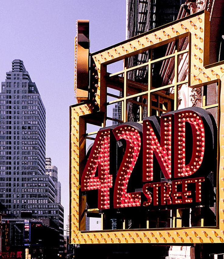42nd Street New York City Print by Linda Parker