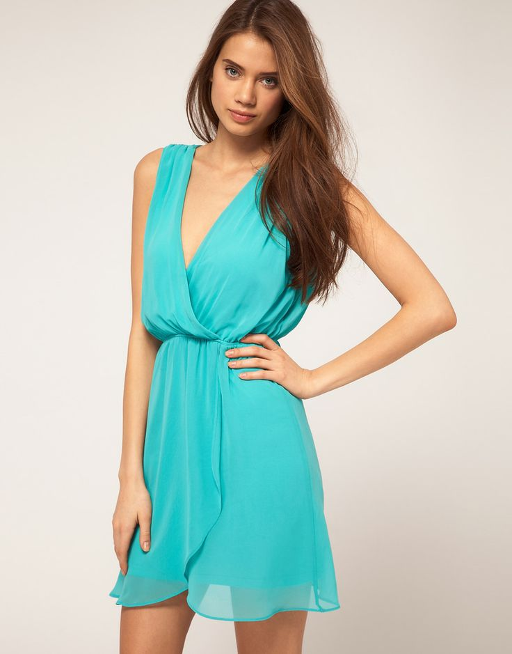 Turquoise dress for guest of a summer wedding..