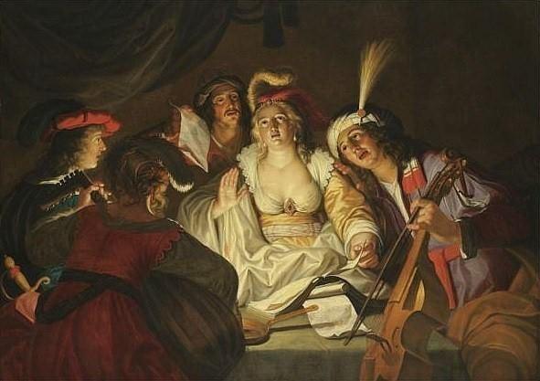 Seghers, Gerard (1591-1651) - A musical company