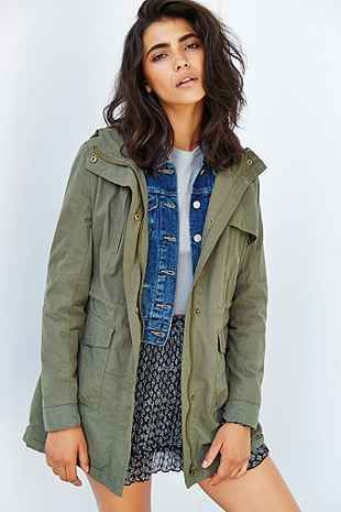 Members Only Fleece-Lined Anorak Jacket - Urban Outfitters  I need a winter jacket like this