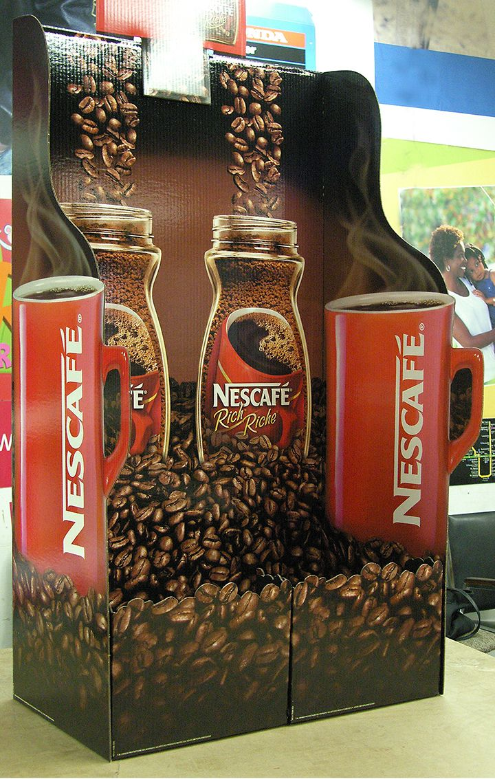Nescafe Corrugate display - Print - Pack - Distribute