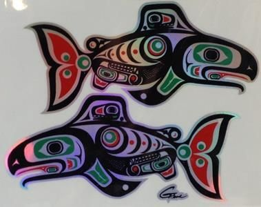 Sticker - Salmon - Gene Suyu