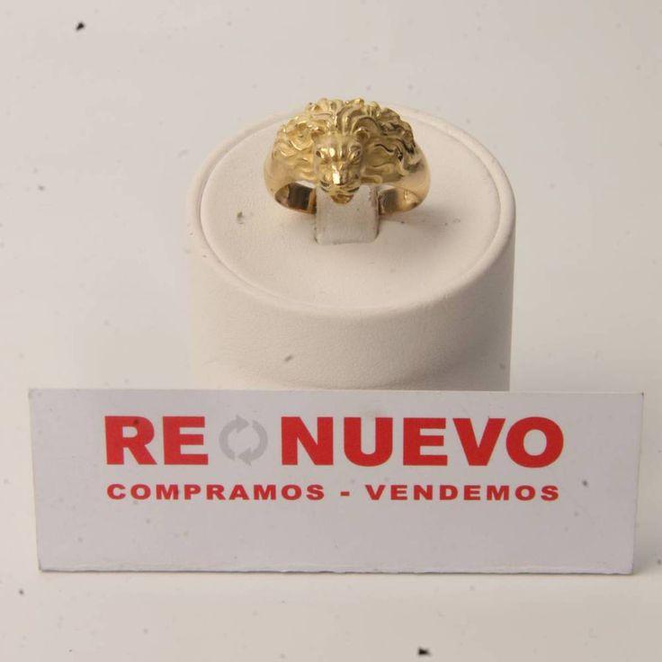 Anillo león de oro de segunda mano de 18 kilates E275350A | Tienda online de segunda mano en Barcelona Re-Nuevo