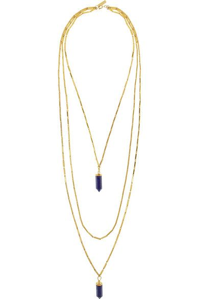 Isabel Marant | New Day gold-tone lapis lazuli necklace