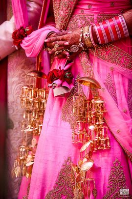 Wedding Kaleere - Umbrella Shaped Kaleere for the perfect bride | WedMeGood #wedmegood #kaleere #wmgkaleere
