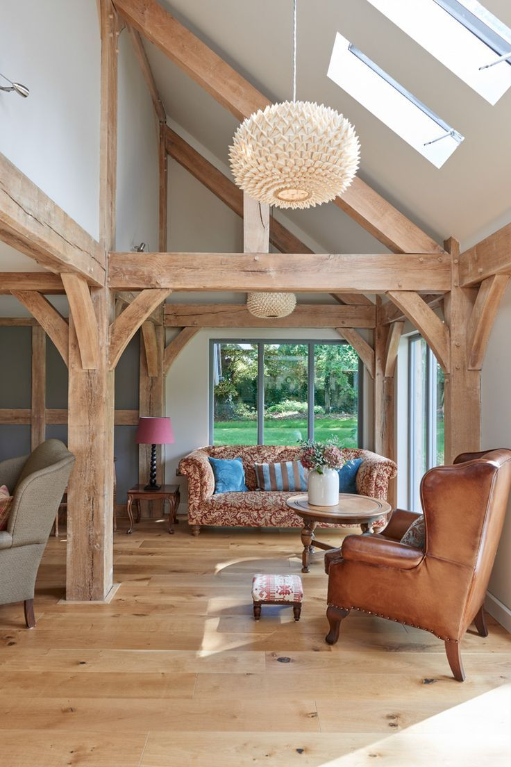 160 best images about interior photos of timber frames on for Barn frame homes