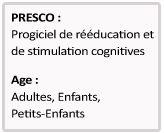 Éduortho.com PRESCO, progiciel de rééducation et de stimulation cognitives