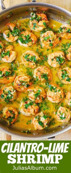Cilantro-Lime Honey Garlic Shrimp - easy, healthy, gluten free, low fat, low carb and low cholesterol recipe.