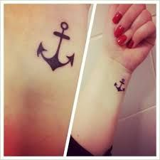 girl anchor tattoos - Google Search