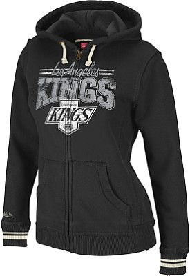 Mitchell & Ness LA Kings Women's Vintage Hoodie - Shop.NHL.com  i wear medium shirts so i guess a large? yes please XD