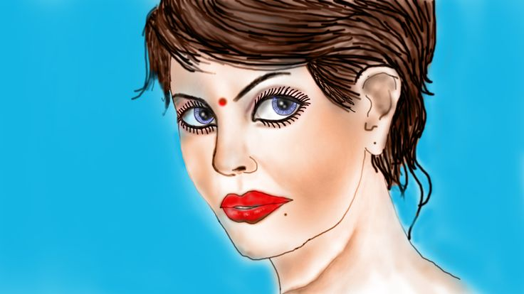 My portrait illustration by using color.thanks-nirlipto nasir hussain