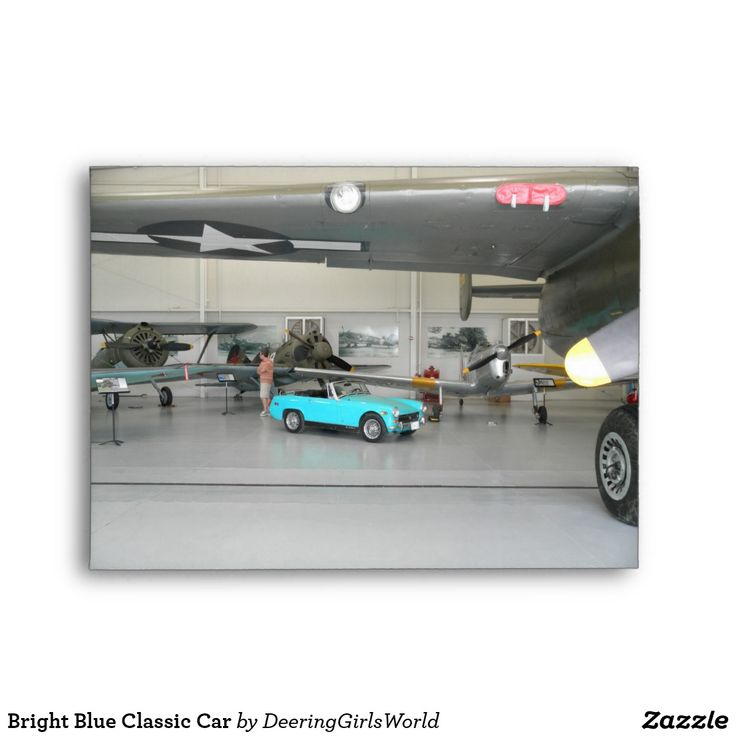 Bright Blue Classic Car Envelope | Zazzle.com